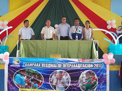 Lanzamiento de la Campaña de Desparasitación Ucayali 2017