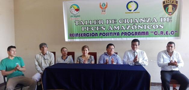INTERNOS DEL PENAL DE PUCALLPA SE CAPACITAN EN CRIANZA DE PECES AMAZÓNICOS.