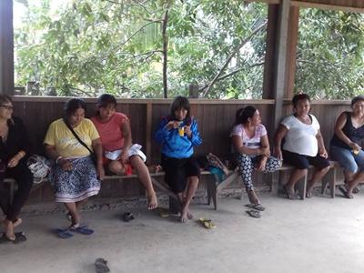 Talleres con la Comunidad de Nuevo San Juan Km 13 del Distrito de Callería, Coronel Portillo